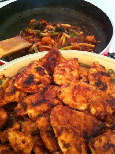 chicken and vegetables picture