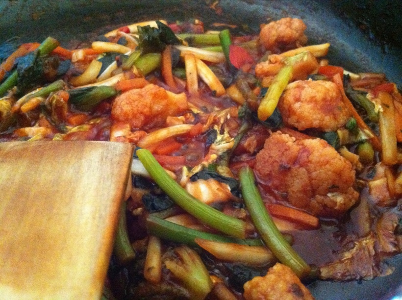 water to moisten cooking process of vegetables picture