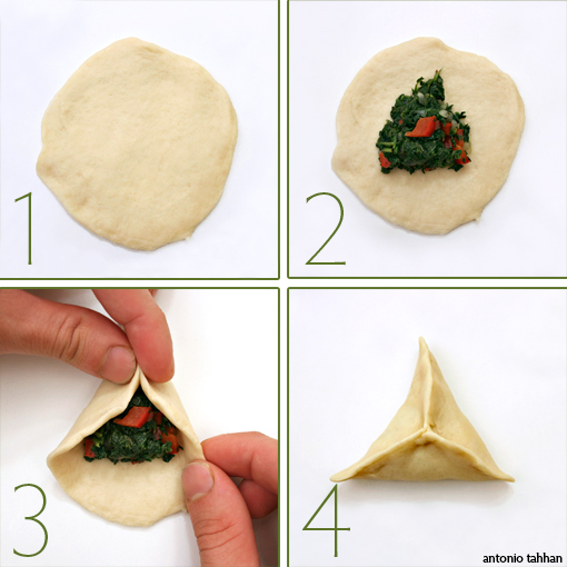 how to seal a spinach pie