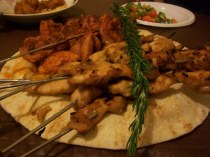 Tandoori and Satay Chicken Kebaabs