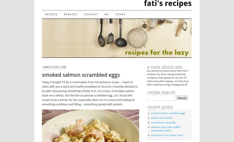 fati's recipes - pilcrow look!