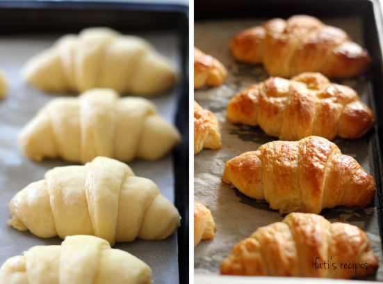 croissants before and after