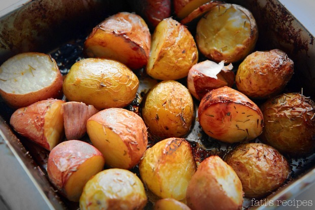 roasted desiree  potatoes