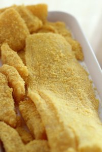 polenta fish (pre-cooked)